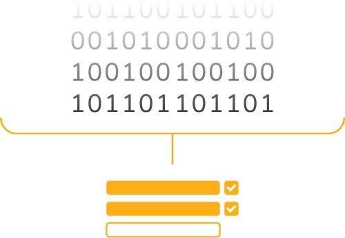 Image showing data being input into forms using AnyData software