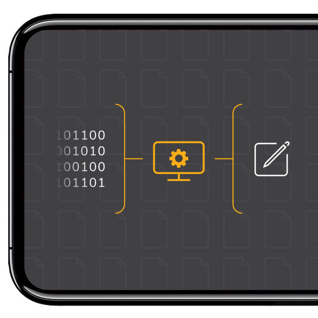 Image of a mobile phone with icons representing GDRP / Compliance
