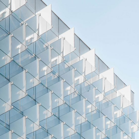 Photo of a glass building exterior